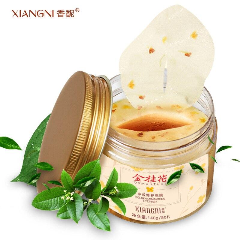 MENGXILAN 80Pcs Gold Osmanthus Eye Mask Moisture Anti-aging Collagen gel Patches Dark Circle Remover Skin Care Sleep Mask