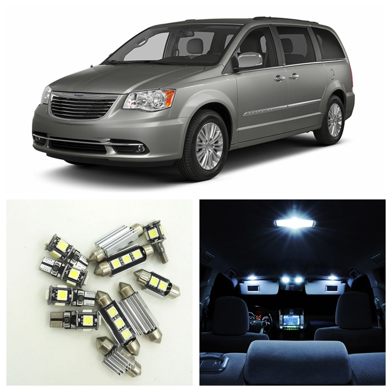 13Pcs Canbus White LED Lights Bulbs Interior Package Kit For 2008-2013 Chrysler Town Country Map Dome Trunk License Plate Light футболка destructo town white 1133970