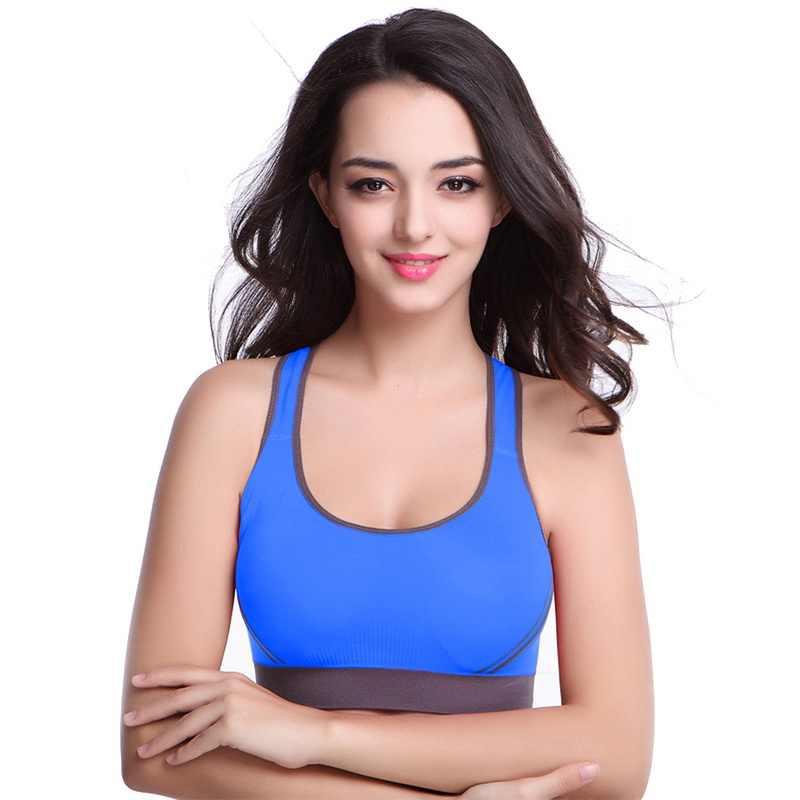 02336ba75f ... CALOFE Women Sports Bra Push Up Bra Breathable Seamless Top Stretch  Fitness Athletic Gym Underwear Bras ...
