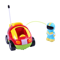 1XCartoon R C Race Car Radio Control Toy With Sounds Music Flashing Headlights For Toddlers And