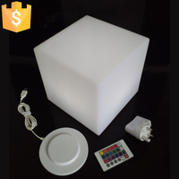 D20cm LED Children Chair Cube square led lighting chair Light up LED Light Cube Seat Free shipping 4pcs/Lot