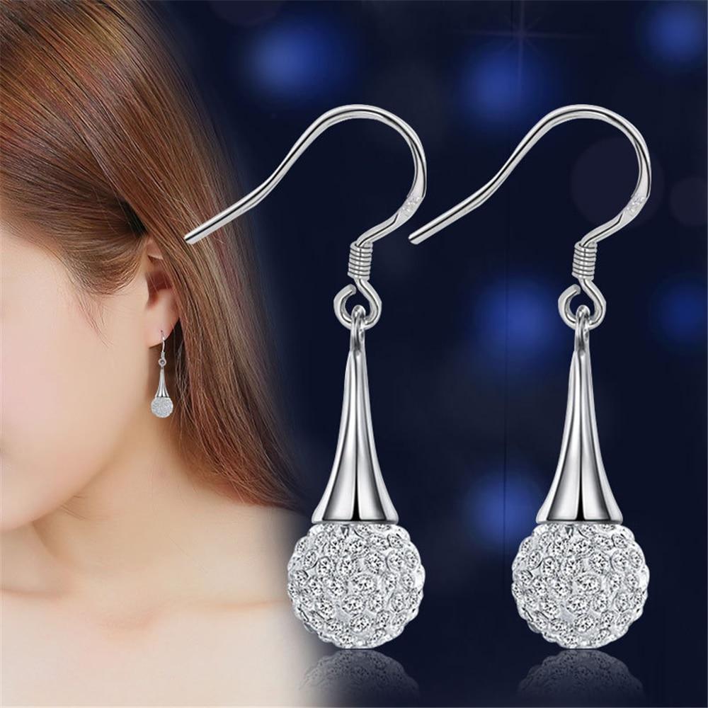 Márka ezüst fülbevaló Shambhala luxus cirkónium fülbevaló női - Divatékszer - Fénykép 3