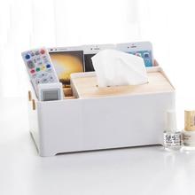 050 Home multifunctional Paper towel box remote control receiver box storage box 26.2*18.2*12.7cm цена