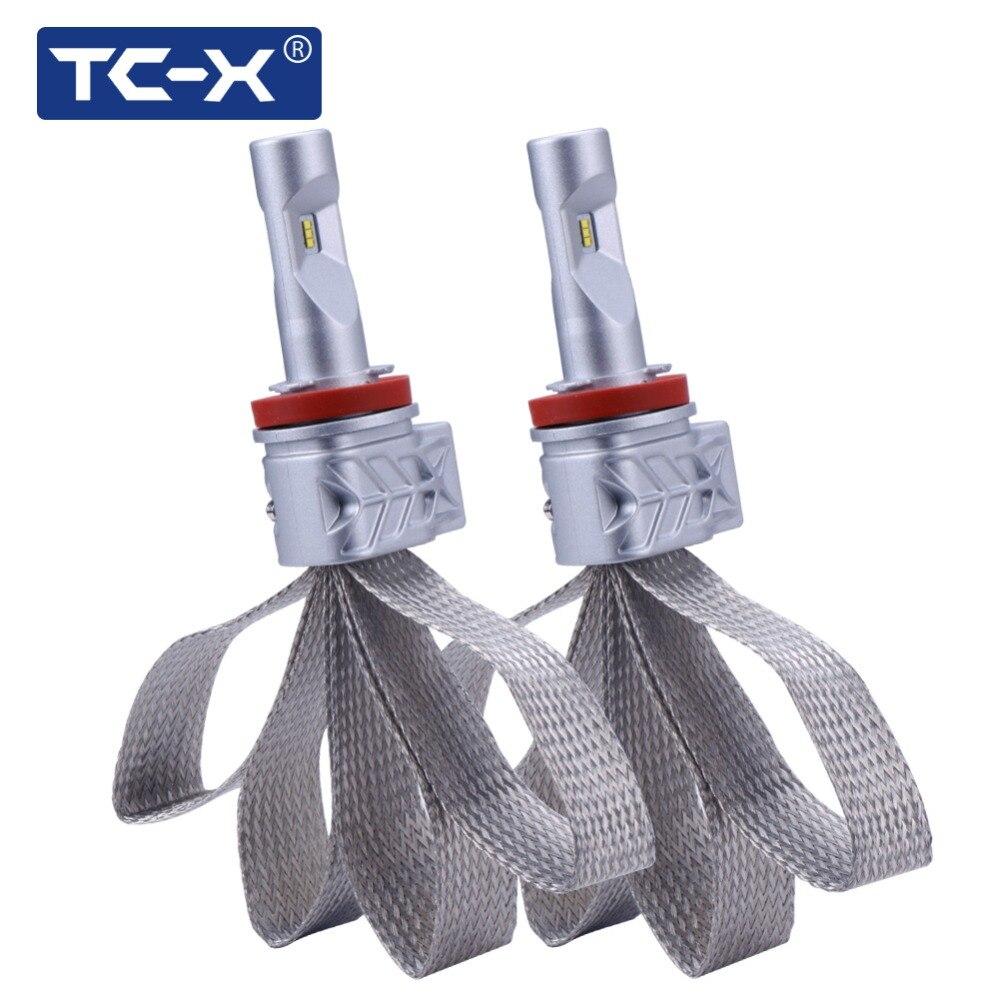 TC-X Lumileds Luxeon Z ES LED Bulbs H11 9006/HB4 9005/HB3 H4 Hi/Lo H7 Car Headlight Kit Dipped Beam Main Beam Foglight