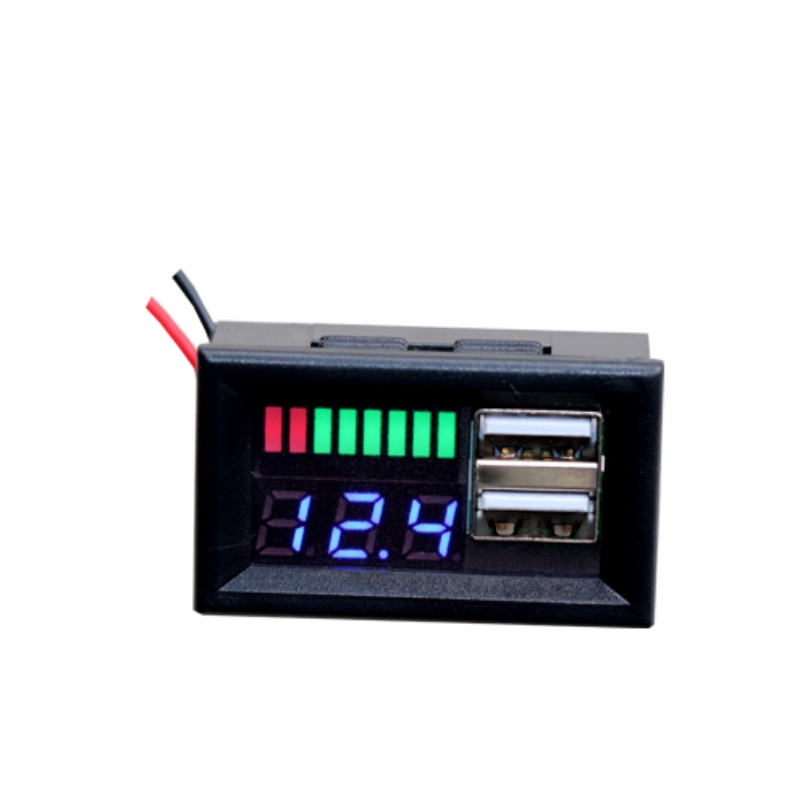 BANDC Marine Grade Boat 5 Way Toggle Switch Panel with Digital Battery Voltmeter for Rvs//Boat//Caravan