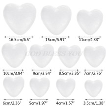 White Modelling Foam Heart Polystyrene Styrofoam Ball Crafts For DIY Christmas Wedding Party Supplies Decoration Ornament(China)