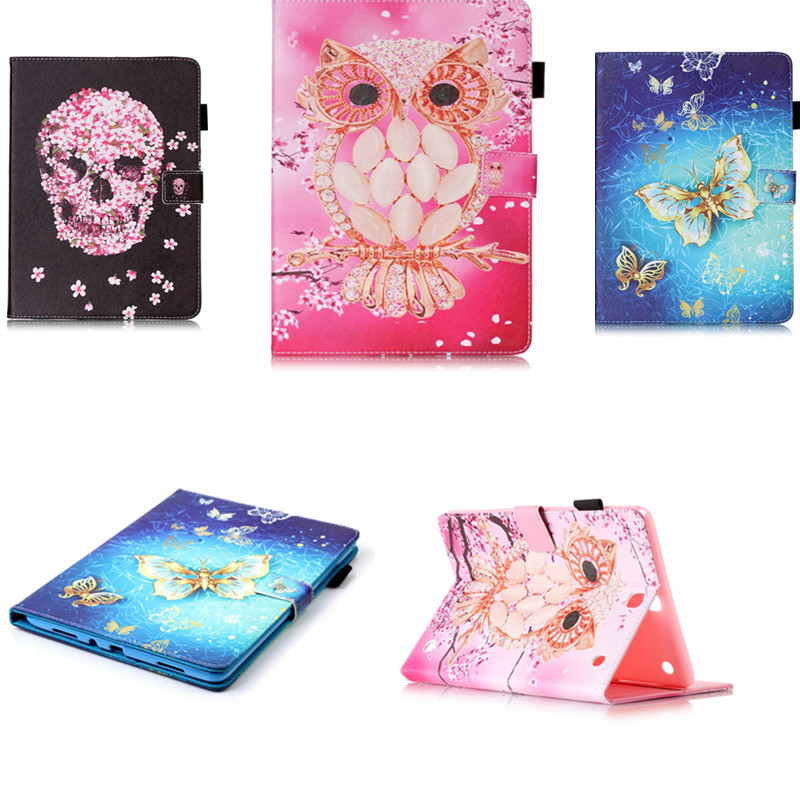 YB Cute cartoon Stand Tablet PU Leather Case Cover For Samsung GALAXY Tab A 9.7 inch P550 P555 SM-T550 T555 T550 OWI Skull Style аккумулятор yoobao yb 6014 10400mah green