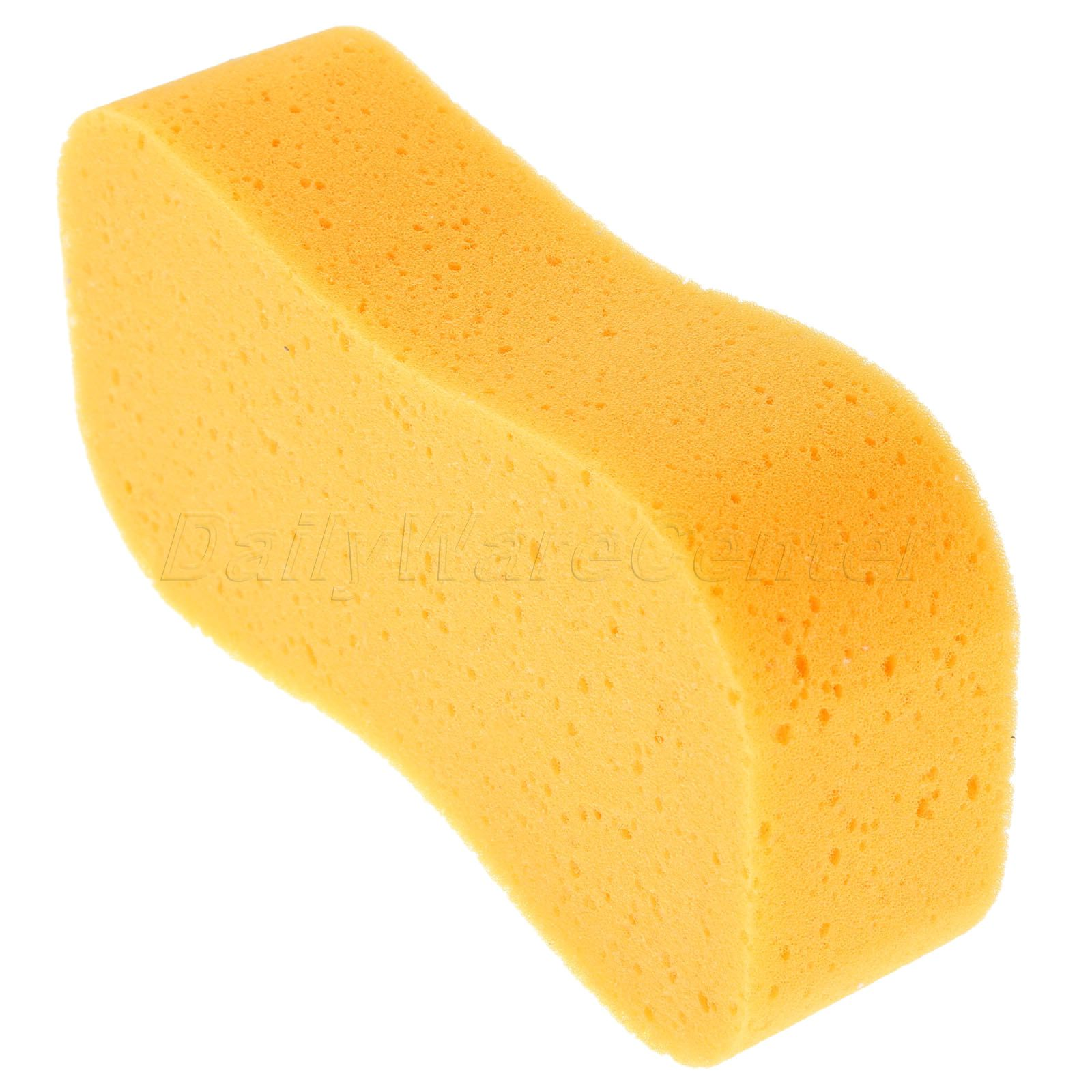 High Foam Multifunction Cleaner Tool Car Tyre Brush Wash Sponge Cleaning Detailing Pad Clean Car Yellow Washing Sponges in Sponges Cloths Brushes from Automobiles Motorcycles