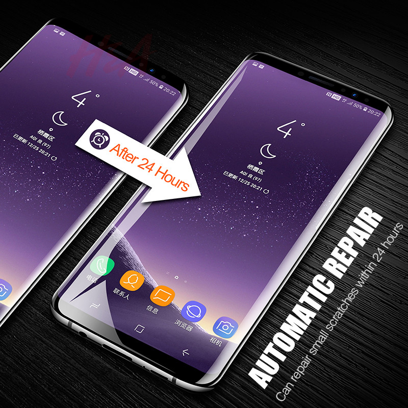 Image 5 - H&A 25D Full Curved Screen Protector For Samsung Galaxy S9 Plus S8 Plus Note 8 Not Tempered Glass For Samsung S10 Plus S10E Film-in Phone Screen Protectors from Cellphones & Telecommunications