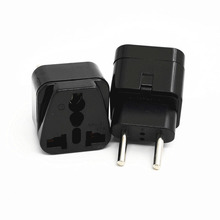 5Pcs Black Universal Portable UK/US/EU/AU to Brazil Israel Travel Power Converter Adapter Adaptor Wall Plug for Home Use