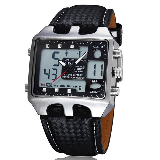 Caliente ohsen hombres deportes relojes analógico digital de cuarzo 3atm impermeable de moda de buceo militar reloj relogio masculino reloj regalos oh601