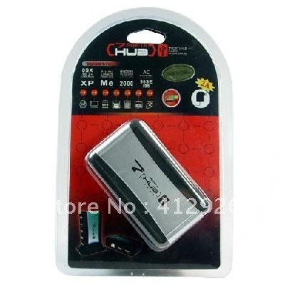free shipping!!!new 7 Port USB 2.0 Hub - Support 480 Mps Data Speed 900578-SKU2010112003