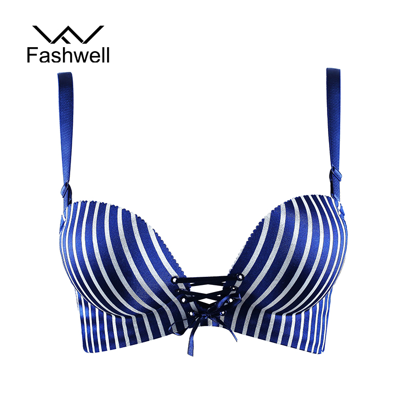 New Sexy Seamless Small Breast striped Bra Push Up Belt Pull B Women's Smooth Underwear Bras