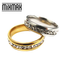 Mixmax 10pc rings for women gold and silver wedding stainless steel couple men ring set luxury anillos mujer wholesale lots bulk
