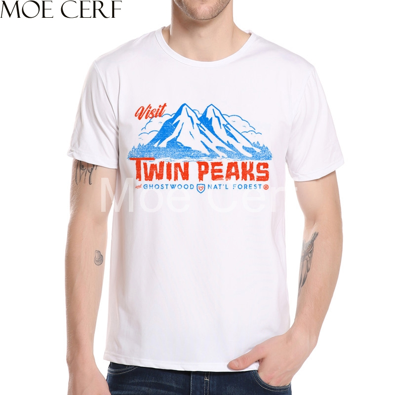 New Twin Peaks Men T Shirt 2018 Fashion Movies Funny T Shirts Men Streetwear T Shirt Customized Your Design Printed Tops L5-82
