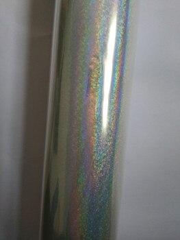 Transparent foil holographic foil little dot  hot stamping foil 64cm x 120m for paper or plastic laminate film transfer