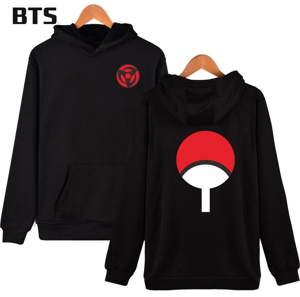 BTS Naruto Hooded Sharingan Anime Funny Brand Naruto Kakashi Creative Hot Sale Winter Hoodies Men Sweatshirts Hooded Pullover
