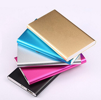 Super Slim Polymer Power Bank 6000mah High Quality Powerbank External Battery Backup Portable Charger For All