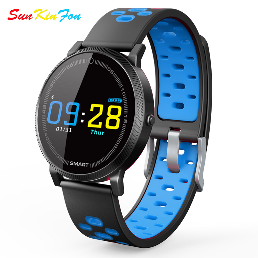 Color Screen Smart Sport Bracelet Heart Rate Fitness Tracker Smart Wristband Blood Pressure Watch for Samsung Galaxy S5 S4 S3 S2 все цены