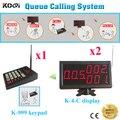 Drahtlose Queue Benennendes System Elektronische Pager Glocke Service Für Cafe Kunden Warten Anzahl Warteschlange (1 + 2)
