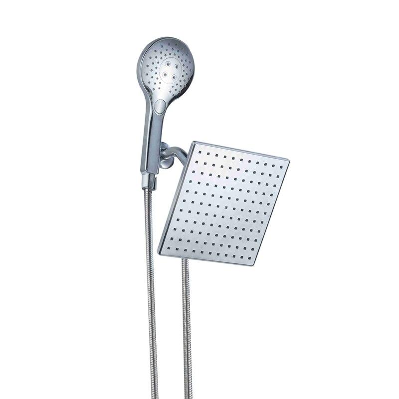 Rain Shower Head Home Hotel Bathroom Large Panel Shower Silvery MetalRain Shower Head Home Hotel Bathroom Large Panel Shower Silvery Metal