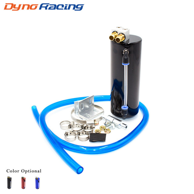 Universal Aluminum Racing Oil Catch Tank/CAN Round Can Reservoir Turbo Oil Catch Can / Can Catch Tank YC100323