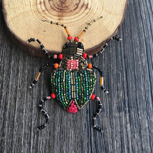 French design beetle beads hand   embroidered silk India brooch brooch buiter, both men and women
