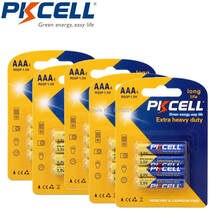 PKCELL – batterie primaire AAA R03P, 16 pièces, 1.5V, 45min, égale à UM4 MN2400, LR03, SUM4, LR3, pour pistolet thermomètre