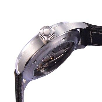 Uhren Mit Sekundenzeiger | Parnis Herren Business Separate Zweite Zifferblatt Klassische Kleid Mechanische Hand Wind Armbanduhren