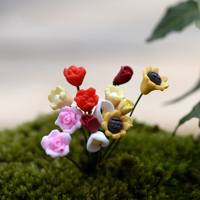 Toys Flower-Decor Craft Plant-Tree-Toy Figurine Miniature Aquarium Fish-Tank Resin 1pcs