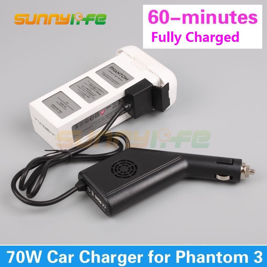 Car Charger Battery Charger 17.5V 4A 70W Output Battery Part for DJI Phantom 3 Standard Advanced Professional dji phantom 3 car charger battery