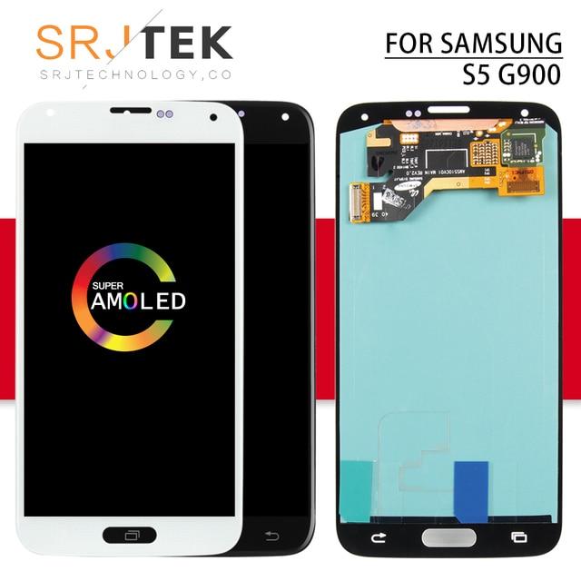 AMOLED/OLED/TFT شاشة لسامسونج غالاكسي S5 G900F LCD G900 عرض اللمس محول الأرقام الاستشعار الزجاج الجمعية i9600 g900H G900M