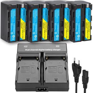 Image 4 - עבור sony NP F770 NP F750 NP F770 סוללה עבור sony CCD RV100 CCD RV200 SC5 TR940 TR917 מצלמה CN 216 CN 304 YN300 VL600 LED וידאו