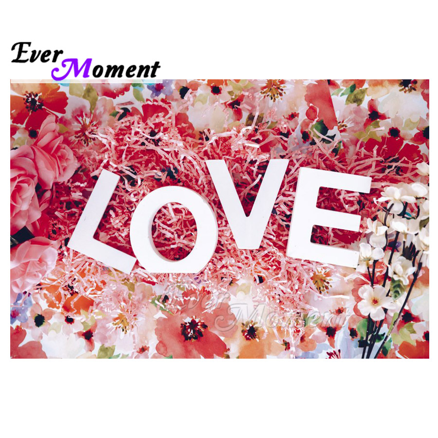 Ever Moment Diamond Painting Flower Love Full Square Drill Handmade 5D DIY Mosaic Diamond Embroidery Decoration For Home S2F2136Ever Moment Diamond Painting Flower Love Full Square Drill Handmade 5D DIY Mosaic Diamond Embroidery Decoration For Home S2F2136