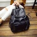 2016 New Vintage Washable Leather Backpack Women Backpack For School Girls Women Bag college wind schoolbag Boutique backpacks