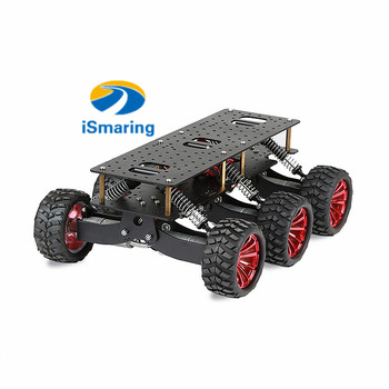 6WD Robot Car Chassis Shock Absorption Off Road Climbing Search And Rescue Platform For Arduino Raspberry Pie DIY RC Toy