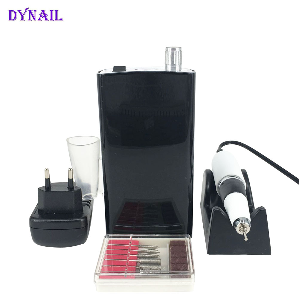 Professional Electric Nail Drill Machine Manicure and Pedicure Tools Rechargeable Electric Nail File gustala 25000rpm professional nail electric grinding drill file bit machine manicure polishing nail pedicure tool manicurist