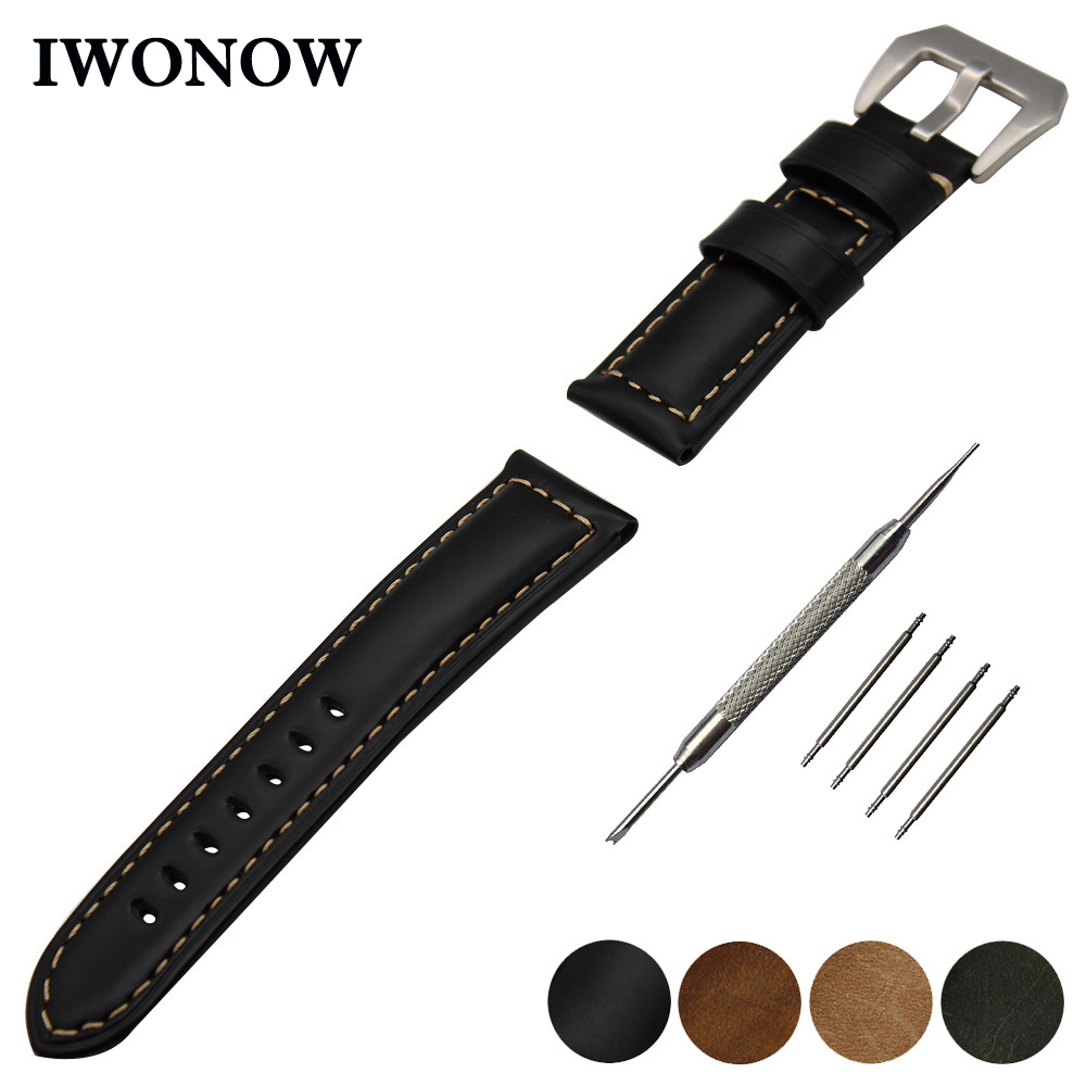 Genuine Leather Watch Band 22mm 24mm for Diesel Stainless St