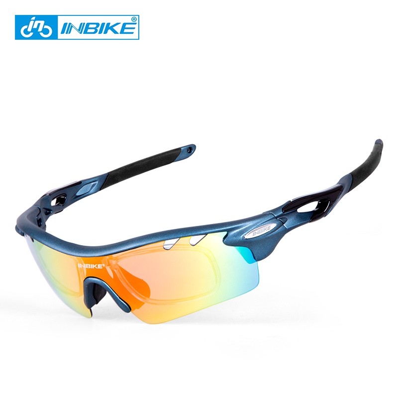 INBIKE Polarized Cycling Bike Sun Glasses Outdoor Sports Bicycle Bike Sunglasses TR90 Goggles Eyewear 5 Lens Bicycle Accessory