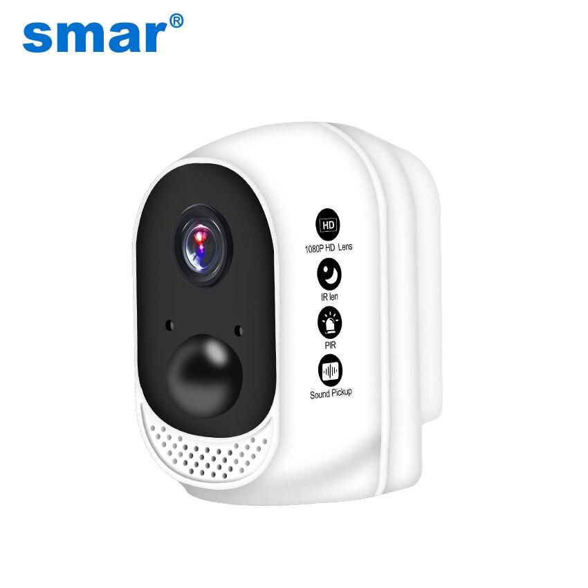 Smar 1080 p HD Sans Fil WiFi Caméra Built-In 10400 mah Lithium Polymère Batterie Extérieure de Sécurité Intérieure IP Cam PIR Motion détecteur