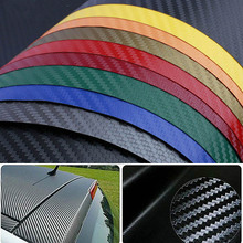 цена на 1pcs 30cm X 127cm DIY Car Style 3D Carbon Fiber Texture Matte Self Adhesive Vinyl Sticker Car Wrap Sticker Decal Film Sheet