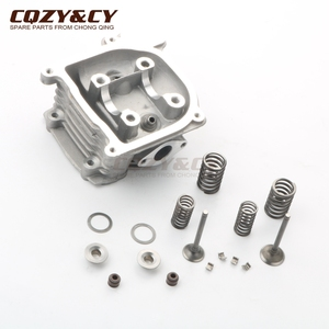Scooter 100cc NON-EGR 50mm Big Bore cylinder head kit & 20*23mm valve kit for GY6 50cc 100cc 139QMB 139QMA 4-stroke(China)