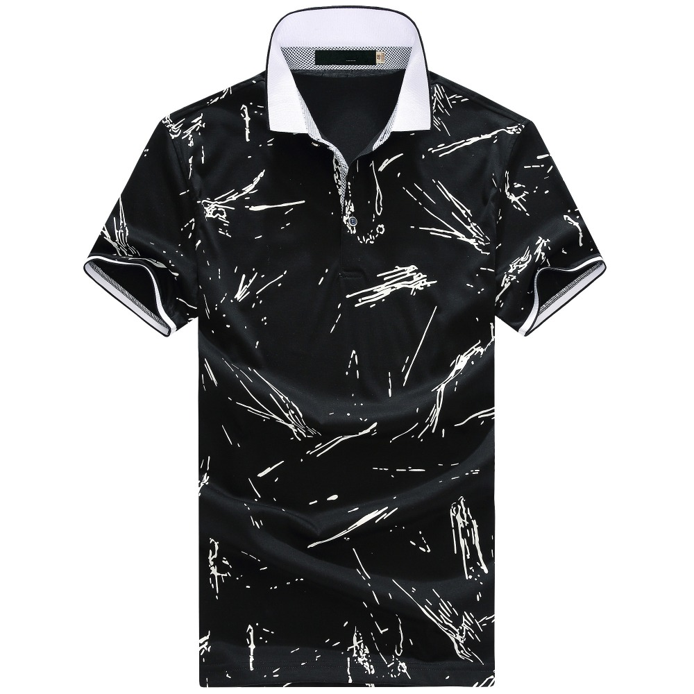 2017 summer new arrival high quality men's casual printed short sleeves   Polo   shirts men 100% cotton   Polo   shirts size M-3XL