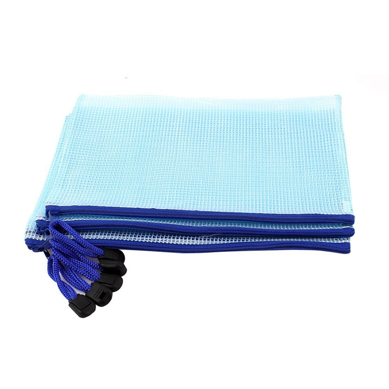 PVC Fabric Conduit ID A5 Document Bag, 5 Pcs Bag, Light Blue