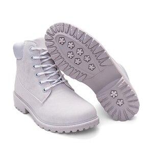 Image 4 - Tuinanle 2020 outono inverno sapatos femininos de pelúcia neve bota calcanhar moda manter quentes botas femininas mulher tamanho 36 42 tornozelo botas rosa