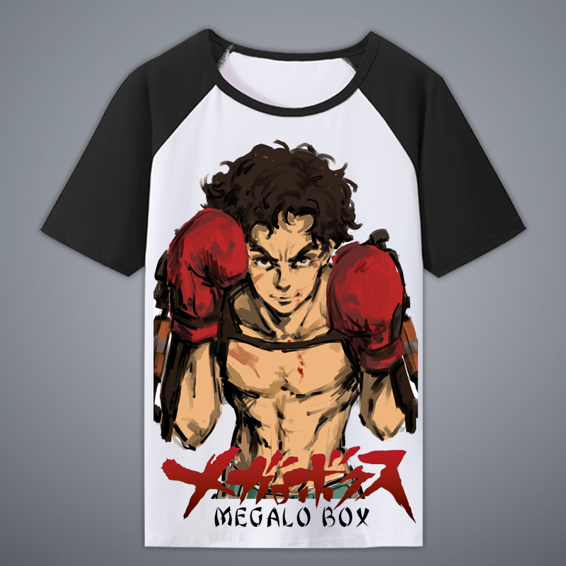 Anime Megalo Box Joe JNG dog Boxer Cosplay Casual Cotton  Men T-shirt Tee Top