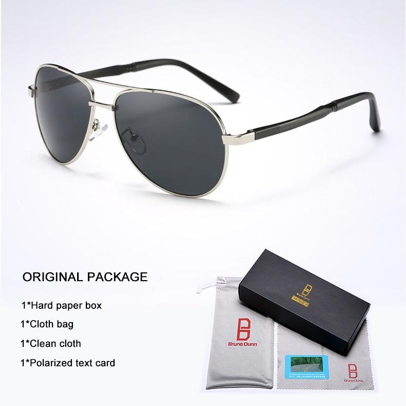 Bruno Dunn 2020 Aviation Men Sunglasses Polarized Sun Glases oculos de sol masculino aviador UV400 high quality  Sunglases 18