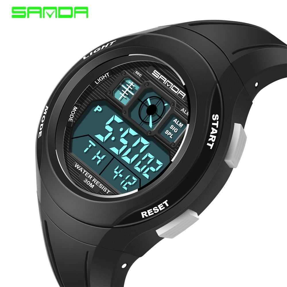 SANDA детские часы милые детские часы спортивные Мультяшные часы для девочек и мальчиков резиновые детские цифровые светодиодный наручные часы Reloj