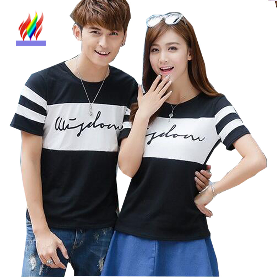 Buy men women fashion matching couple for Couple polo shirts online