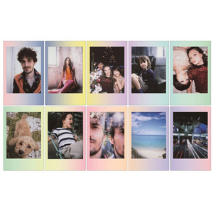 Image 2 - 20 ملاءات Fujifilm فوجي Instax ميني 8 جديد معكرون + الزجاج الملون فيلم ل 11 7 8 9 50s 7s 90 25 حصة SP 1 SP 2 الكاميرات الفورية
